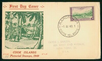 Mayfairstamps Cook Islands FDC 1949 Airplane Taking Off Shelter First Day Cover