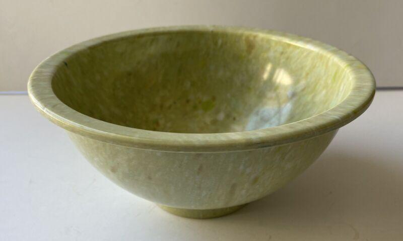 "Vintage Texas Ware Light Lime Green Confetti 8"" Bowl"
