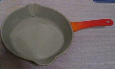 Descoware Enamel Cast Iron Skillet Orange 81-c
