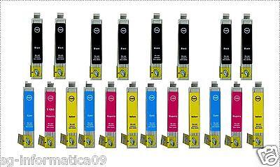 20 CARTUCCE PER STAMPANTE EPSON STYLUS DX8400 DX8450 DX7000F DX6050 DX9400F