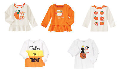 Halloween Crazy 8 (NWT NEW Gymboree Crazy 8 HALLOWEEN TEE Pumpkin Cat Candy Corn 3T 4T 5T)