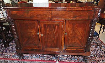 -  Lovely Early 19th Century Empire Server  mahogany rectilinear sideboard buffet