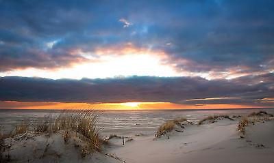 Sonnenuntergang  -Bilder auf Leinwand Keilrahmen Poster XXL 160 cm*80 cm 483