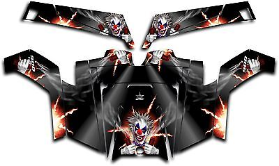 Polaris RZR 900 XP UTV Wrap Graphics Decal Kit 2011-2014 Pyro The Clown Black