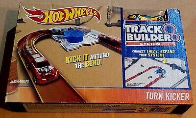 Hot Wheels Workshop Track Builder Turn Kicker Track Extension NEW 2015