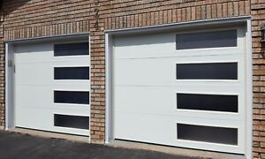 8x7 MODERN GARAGE DOORS....... $1450 INSTALLED