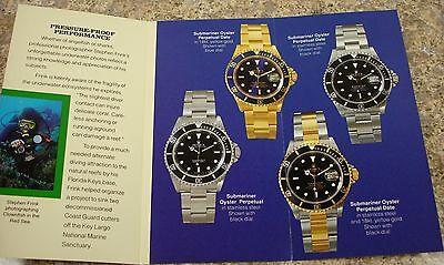 Vintage 1991 Rolex Submariner Brochure Booklet in English
