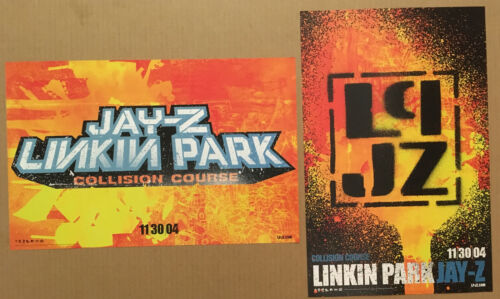 LINKIN PARK & JAY Z Rare DOUBLE SIDED PROMO POSTER w/DATE of 2004 CD 11x17 MINT
