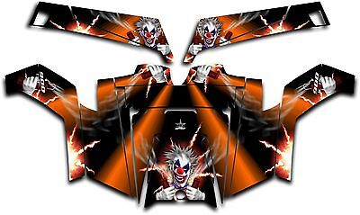 Polaris RZR 900 XP UTV Wrap Graphics Decal Kit 2011-2014 Pyro The Clown Orange