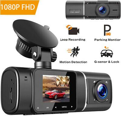TOGUARD Uber Dash Cam Night Vision HD 1080P Front+720P Inside Cabin Dash Camera