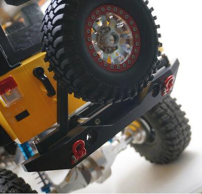 Metal Rear Bumper w/Tires Mount Shackles Hook for Axial SCX10 RC Car Crawlers US