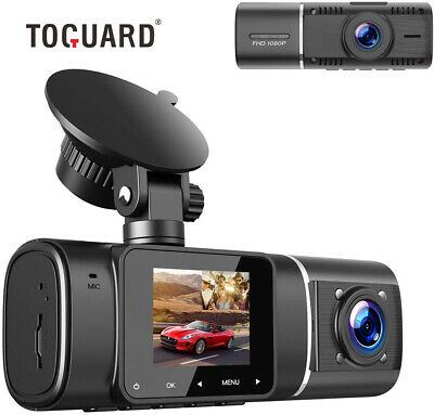 TOGUARD Dash Cam Night Vision Dual Camera Car Driving Recorder for Uber Car 310°