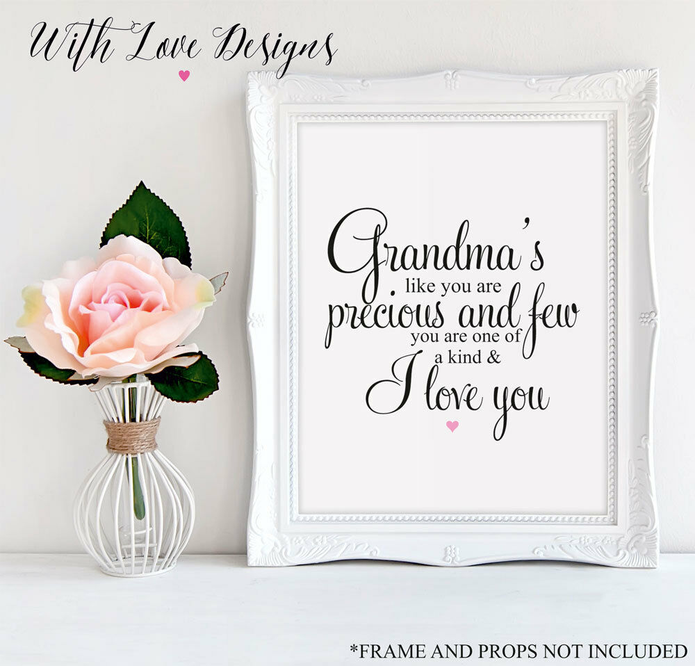 NANNY GIFT personalised A4 Gift