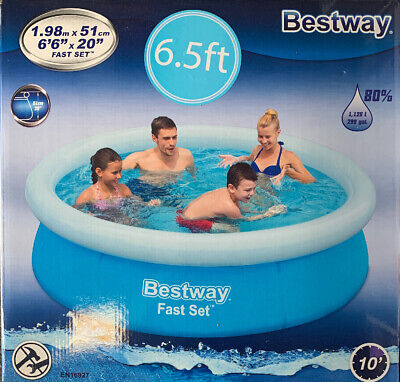 Bestway Fast Set 6.5ft Pool 1.98m X 51cm 1.126L