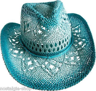 hhut Tex Mex Western Hat Country Trapper Kult Riding  (Blaue Cowboy-hut)