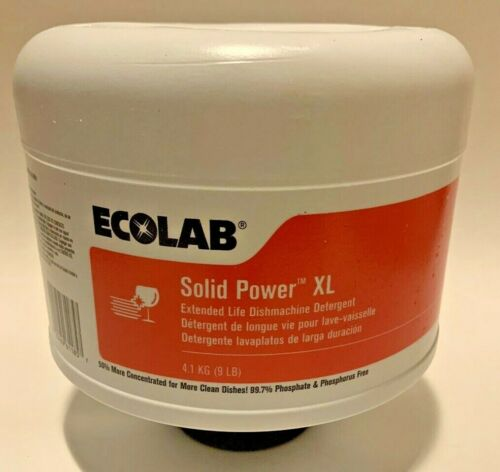 ECOLAB Solid Power XL Extended Life Dishmachine Detergent 9 Lbs. New