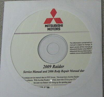 2009 Mitsubishi Raider Service Repair Manual CD