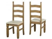 Corona Mexican Pine Table and four chairs