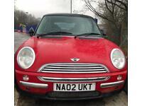Red Mini Cooper 02 plate