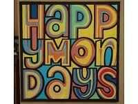 Large HAPPY MONDAYS album cover painting