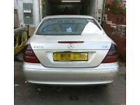 Mercedes Benz W211 211 E Class Rear bumper with parking sensor fitting in silver 2002-2009