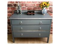 Vintage Shabby Chic Chest of Drawers Hand Painted