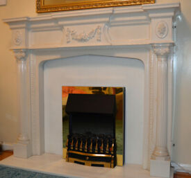 Fireplace (surround and back panel) - marble resin