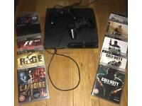 🎮PS3 slim line 2 controllers and 10 games🎮