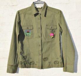 "BNWT Mambo Small Ladies Army Green Shirt / Jacket C38"""