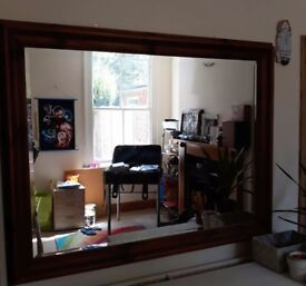 Large solid wooden mirror