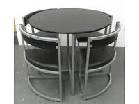 Dining Table, Round with Four Chairs