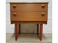 Vintage Chest Of Two Drawers (DELIVERY AVAILABLE FOR THIS ITEM OF FURNITURE)