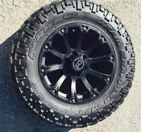 17 inch black rhino sidewinder rims nitto tires for gm 6 bolt