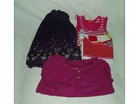 Girl's clothes aged 5 – 6 years, skirt, blouse and tops