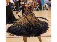 Ballroom Dress - DSI Ex Sponsored Couture - Tiger Dress SIZE 6-8