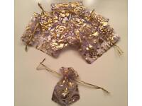 Mini Lilac 10x Drawstring Pouches/Bags (Gift, Jewellery)