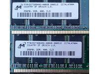 2 pieces of 256mb RAM DDR400mhz (PC3200) CL3 desktop Memory