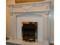Marble Resin Fire surround and back panel