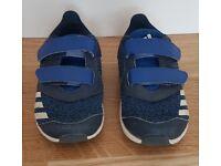 Adidas kids blue trainers size UK 6.5