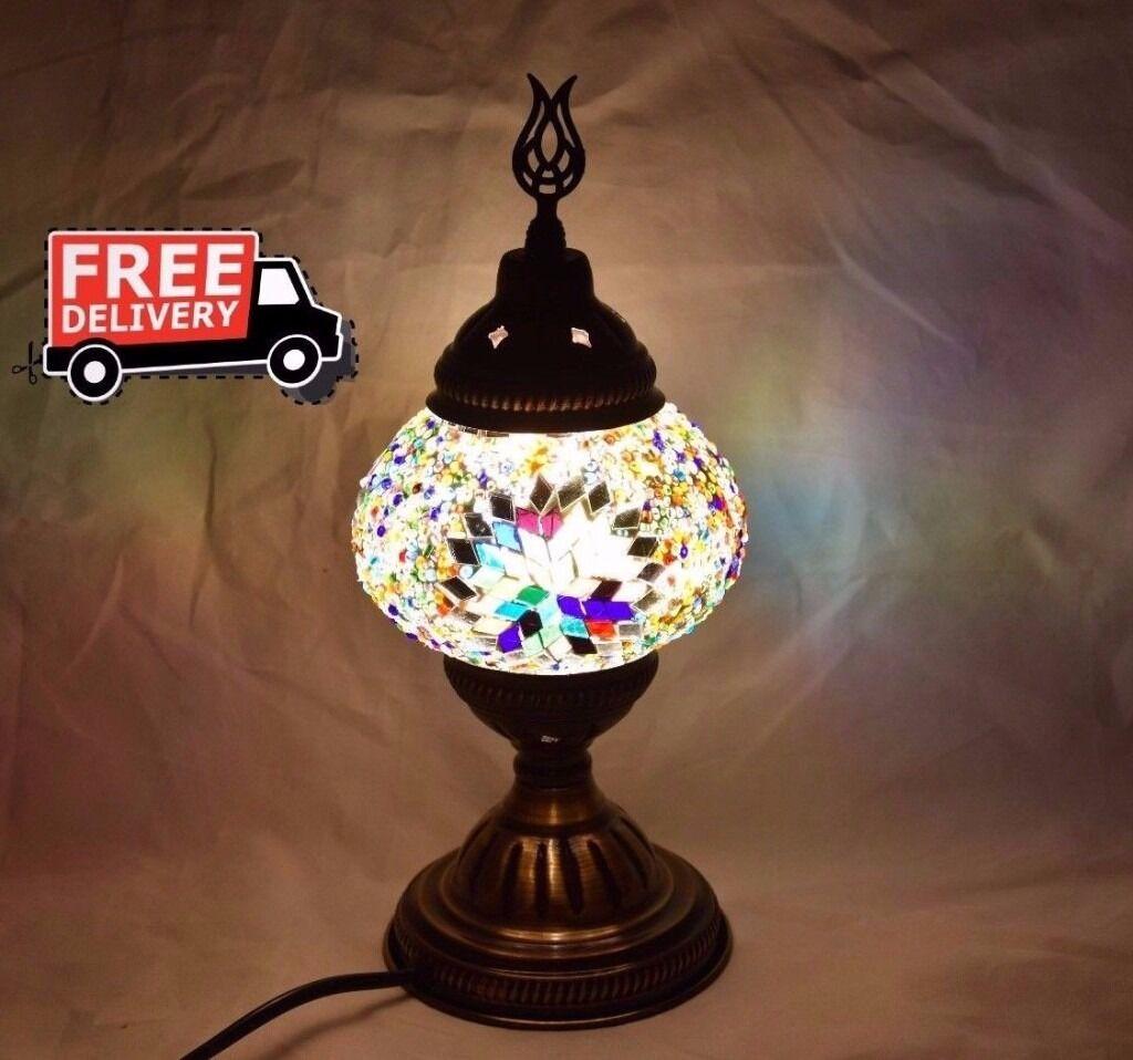 Lighting Shops Near Erdington: Mosaic Lamp Turkish Night Lamp Desk Lamp Glass Globe Multi