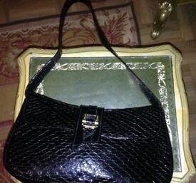 86d486f3353 Chanel vintage patent shoulder bag- large authentic