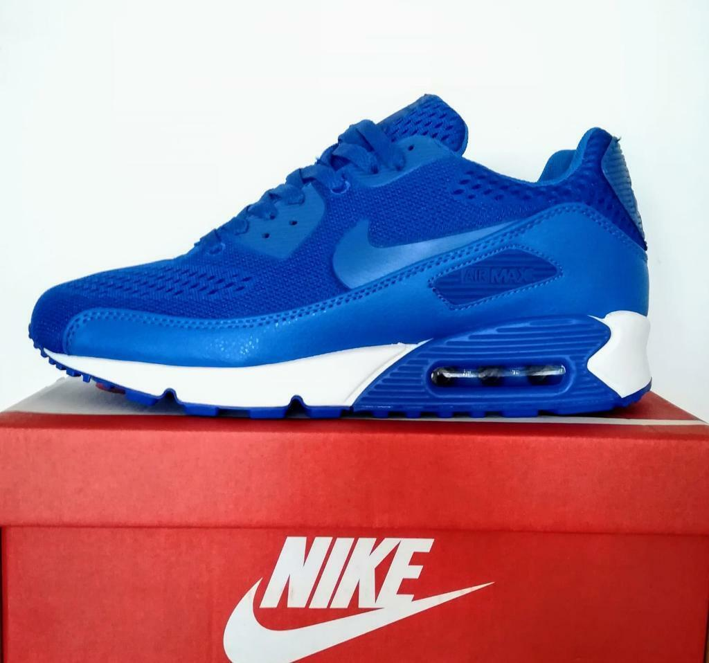 pretty nice e6939 cc2a2 Brand New with Box Mens Nike Air Max 90 Premium White Blue size 8,9,10 Trainers  Shoes
