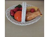 Retro Ceramic sixties Fruit bowl -Basket with fruit - dining room furniture