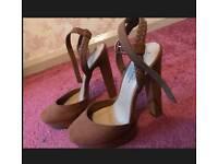 Newlook Tan high heels