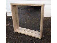 Wall mirror – Sonoma oak effect – excellent condition – 6 months old