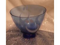 Reijmyre Sweden handmade glass bowl. new