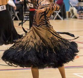 DSI Ballroom Dress - One Off - Tiger Design