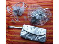 Ladies' fascinators and matching bag