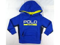 RALPH LAUREN Blue Boys' Polo Sport ThermoVent Pullover Hoodie Size 5 RRP £55+