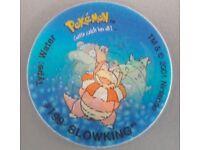 Stocking filler - Vintage 2001 Nintendo Pokemon Tazo #199 Slowking – post or collect